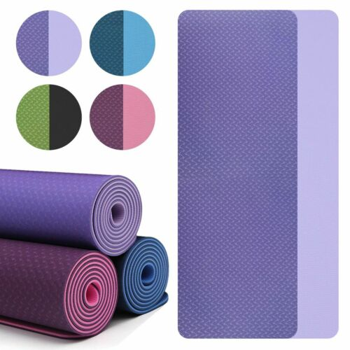 """72"""" Thick Yoga Mat Gym Camping Non-Slip Fitness Exercise Pilates Meditation Pad 1"""
