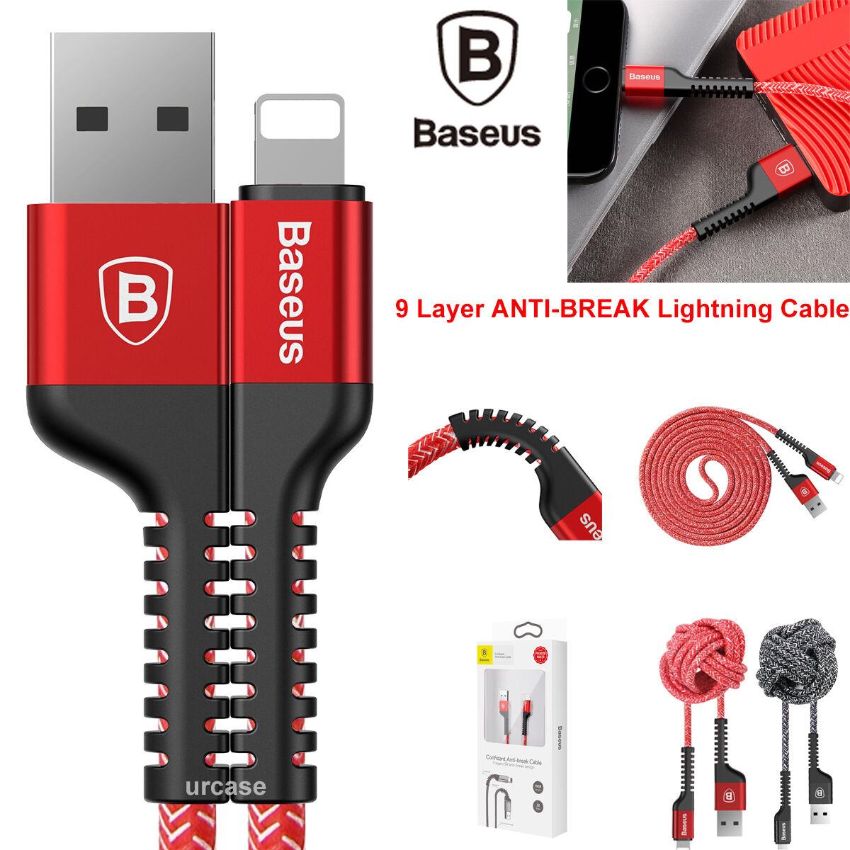 Metal Nylon Braided Apple iPhone XS Max 8 7 Lightning USB Da