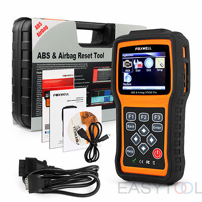 US ABS Airbag SRS Reset OBD2 Code Reader Diagnostic Scanner Foxwell NT630 Pro