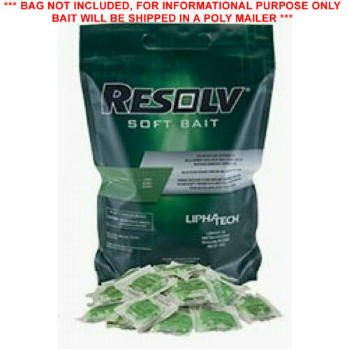 LOT OF 24 Resolv Soft Bait Rodenticide Rat Mice Mouse Poison Bromadiolone FAST