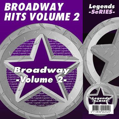 Broadway Musical Karaoke CDG CDs Broadway Musicals Legends Vol 2 NEW 3 Day Ship ()