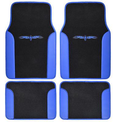 4 Piece Tattoo Design Floor Mats for Car SUV 2 Tone Blue Black - Ranger Tattoo
