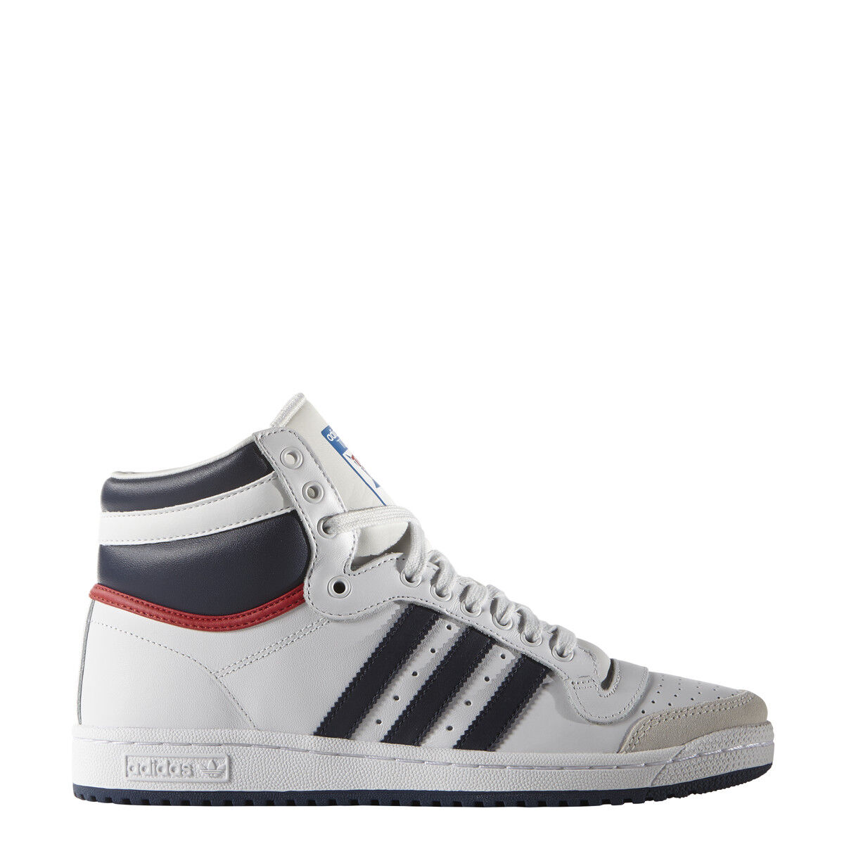 New Adidas Men's Originals Top Ten High OG Shoes (D65161) White Navy Red