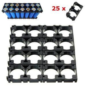 25X Akkupack Halterung Fassung Schale für 18650 Li-Ion Batterie Akkus (2 Stück)