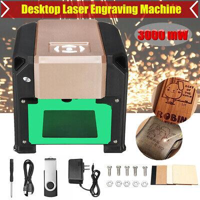 3000mw Desktop Laser Engraving Machine Logo Marking Printer Diy Cnc Engraver