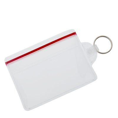 100 pc Soft Vinyl ID Badge / Fuel Card Holders w/ Key Ring & Water Resistant