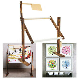 Needlework Stand Lap Table Wood Embroidery Hoop Frame Cross Stitch Sewing