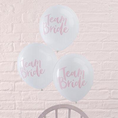 Luftballons Luftballon 'Team Bride' weiß / rosa (10 Stück) JGA Party Hochzeit