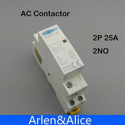 Toct1 2p 25a 220v230v 5060hz Din Rail Household Ac Contactor 2no