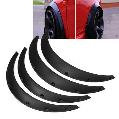 4PCS Universal Car Fender Wheel Arch Fender Flare Extension Flares Flexible UK