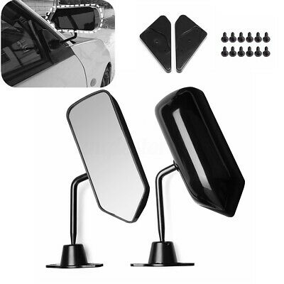 Glossy Black F1 Style Universal Car Vehicles Racing Side Rearview Mirrors Glass