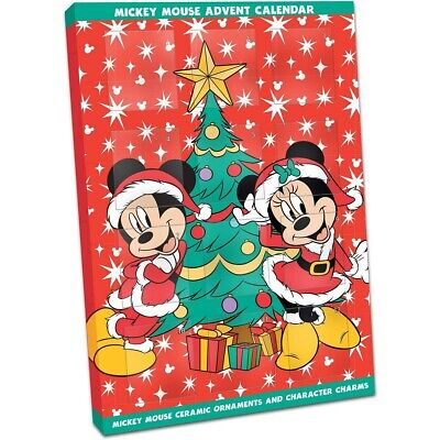 Advent 12 Days Ceramic Decoration Christmas Disney Mickey And Minni Mouse