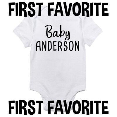 - Custom Name Baby Onesie Shirt Shower Gift Infant Newborn Clothes Gerber