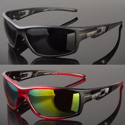 Wrap Around Sunglasses (New Men Polarized Sunglasses Sport Wrap Around Mirror Driving Eyewear Glasses )