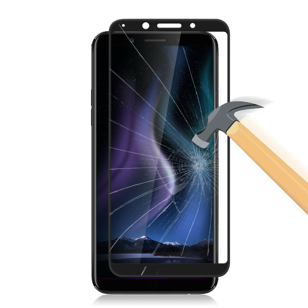9h Full Coverage Tempered Glass Screen Protector Cover Film For Oppo F3 3d White Premium Pro 2x Protectors F5