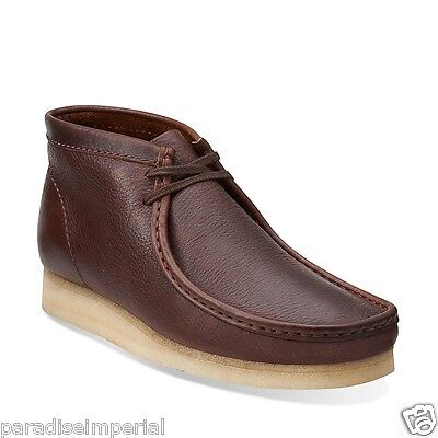 Clarks Originals Mens Wallabee Boot Core Brown Tumble Leather Style 03668