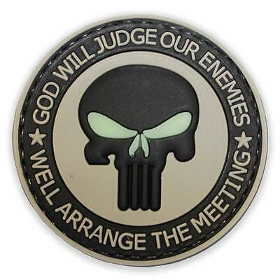 3D PVC Punisher Enemies Morale Patch Glow Velcro Backed Military Tactical