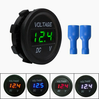 5-48v Dc Voltmeter Waterproof Digital Display Voltage Meter For Car Motorcycle