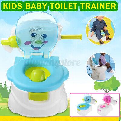 2 In 1 Kid Baby Toilet Training Children Safety Toddler Potty Seat Chair