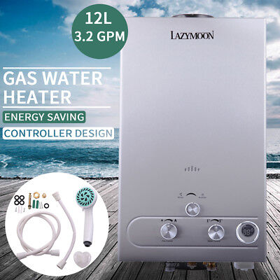 3.2 GPM Water Heater 12L LPG Propane Gas Tankless Stainless Instant Boiler