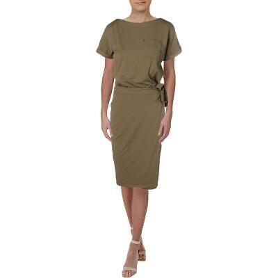Lauren Ralph Lauren Womens Green Modal Blend Tee Casual Dress L BHFO 6311