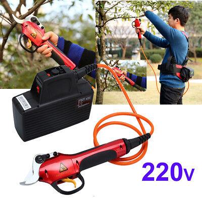 220V Electric Garden Tree Branch Cutter Pruning Shears & Snips Plant Scissor 3cm