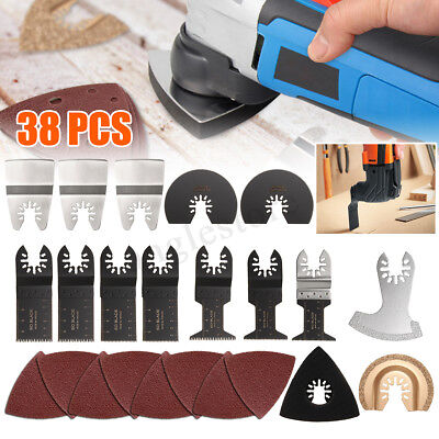 38pcs Mix Oscillating Multitool Saw Blades Accessories Set For Fein Bosch Makita