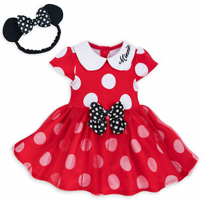 NWT DISNEY STORE Sz 6/9 12/18 or 18/24 Months Red Minnie Mouse Costume Baby NEW (Infant Costumes 6 9 Months)