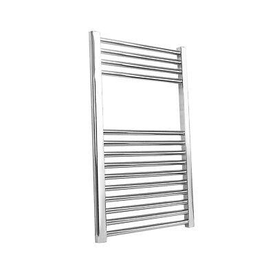- Bathroom Heated Towel Rail Radiator Chrome Straight Ladder Warmer 800 x 500