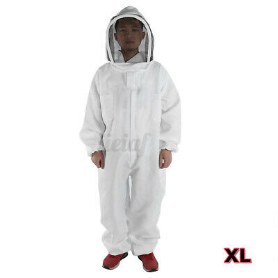 Xl Professional Cotton Full Body Beekeeping Bee Keeping Suit W Veil H