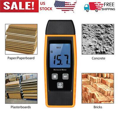 080 Digital Wood Moisture Meter Humidity Tester Timber Damp Detector Us D3s8