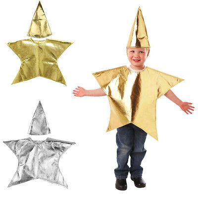 Christmas Nativity Star Costume Childrens Fancy Dress Kids Costume with Hat