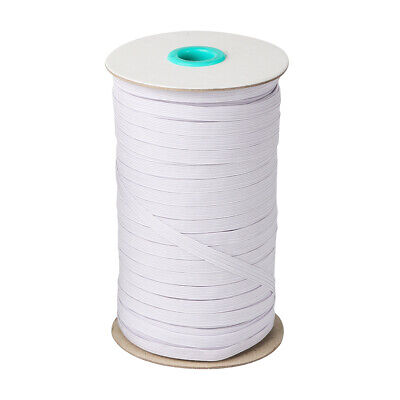 80 Yards White Elastic Band Cord 1/4 inches width (6mm) Sewing For Face Mask up