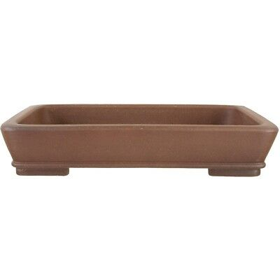 Bonsai pot 36x27x7cm antique brown rectangular unglaced H36153AB