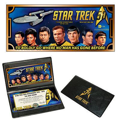 50th Anniversary Gold (Star Trek 50th Anniversary U.S.S. Enterprise Crew 24k Gold Aurum)