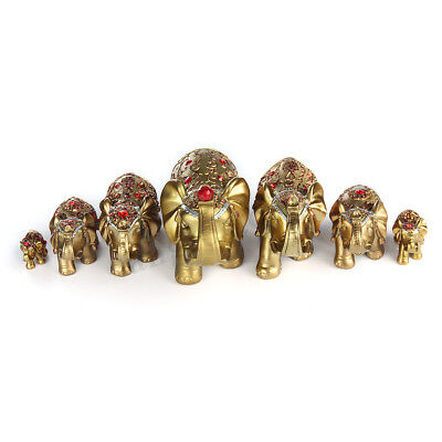 7Pcs Feng Shui Elephant Trunk Statue Lucky Figurine Christmas Gift Home Decor  Figurine Home Decor