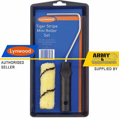 Rayas Tigre Mini 10.2cm Rodillo Juego Plástico Pintura Bandeja & Mango Emulsión