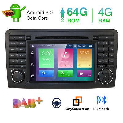 DAB+ Android 9.0 Autoradio Mercedes Benz ML/GL-Klasse W164 X164 Navi Canbus SWC