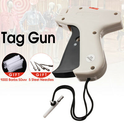 Clothes Garment Price Label Tagging Tag Gun Machine1000 Barbs5 Steel