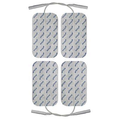 4 TENS Elektroden Pads 10x5cm für Reizstromgerät 2mm Stecker EMS Training-axion®