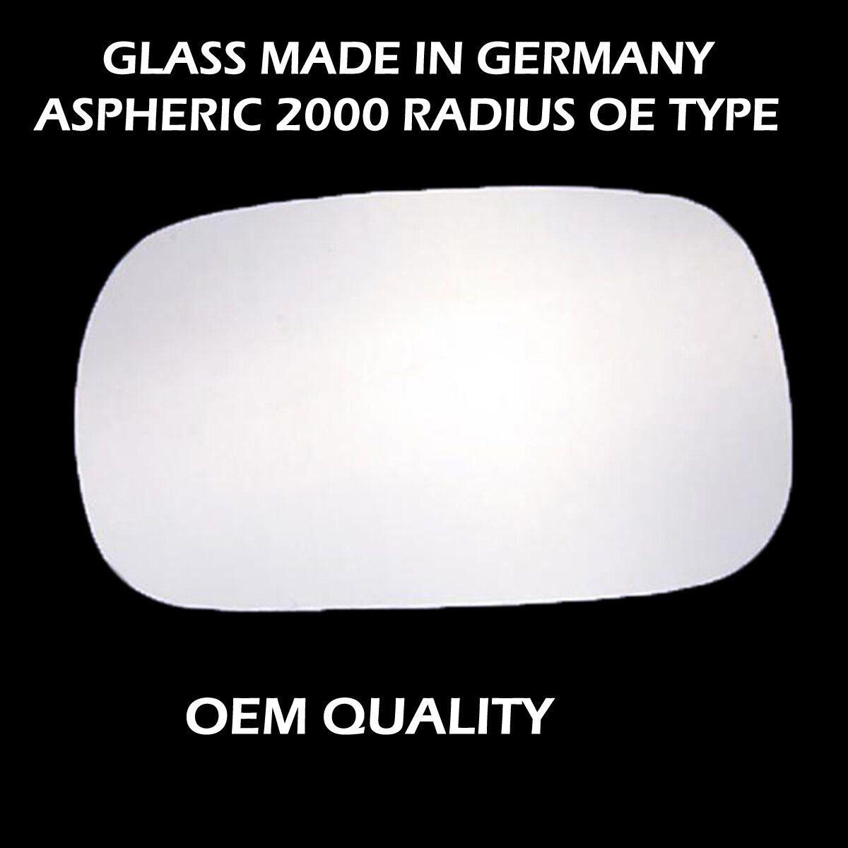 Heated,Aspheric,RH Side,2002 To Wing Mirror Glass With Base For Renault Megane