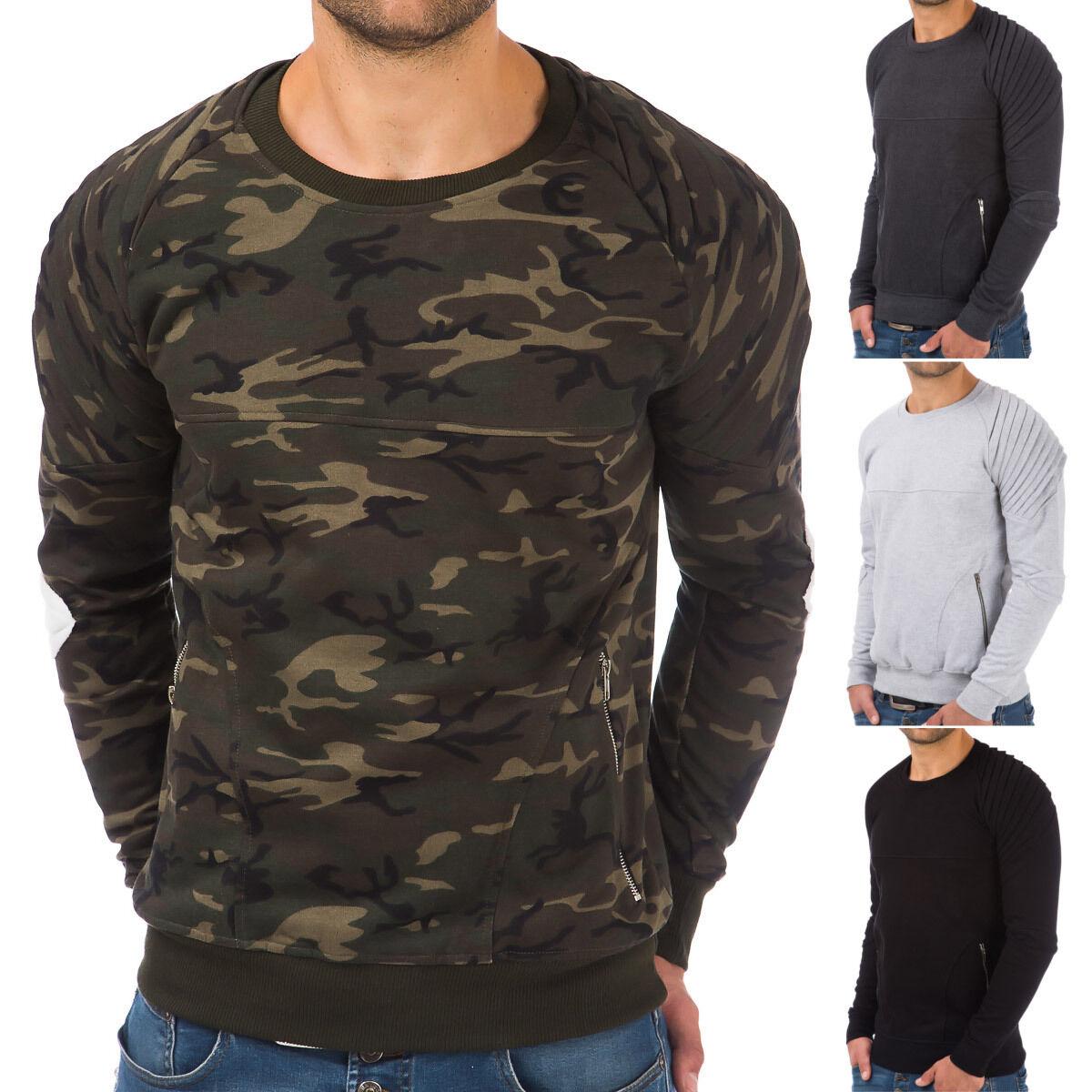 Pullover Herren Hoodie Sweatshirt Fitness Jogging Sport Shirt Training Pulli