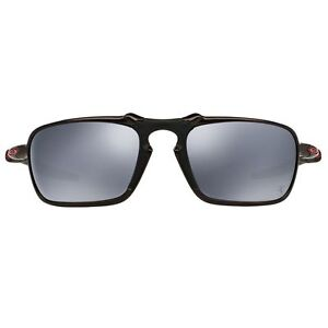 081ee36204 Oakley Badman Dark Carbon Ferrari Oo6020 07 Polarized Sunglasses Black  Iridium
