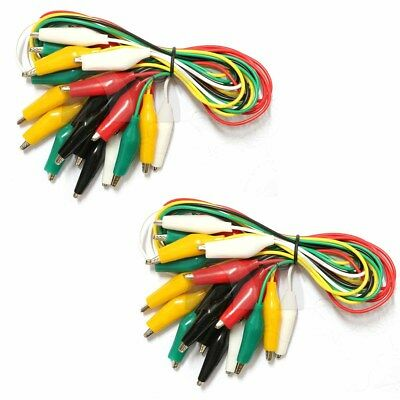 Wgge Wg-026 20 Pieces And 5 Colors Test Lead Set Alligator Clips20 Inches