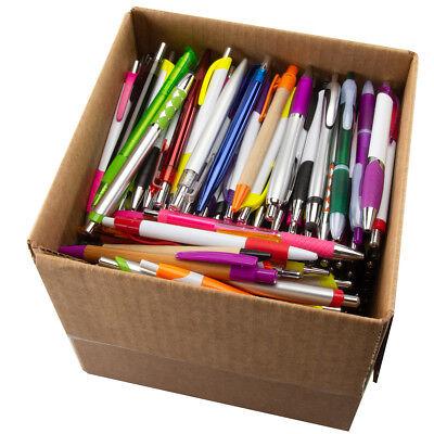 5lb Box Ballpoint Pens Bulk Click Black Ink Retractable Assorted Plastic Metal
