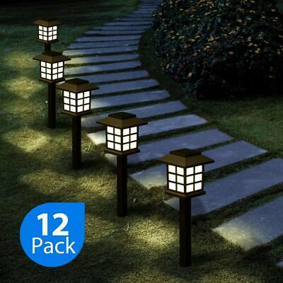 12 Solar Pathway Lights Waterproof