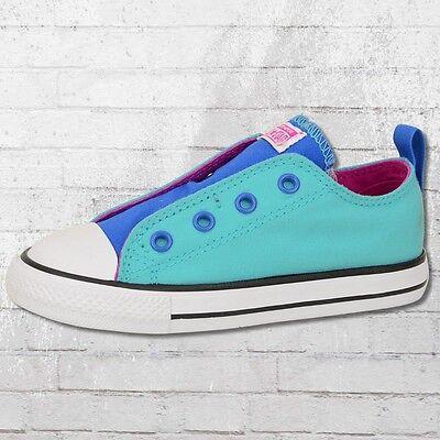 Converse Simple Slip Kinder Schuhe blau türkis Sneaker Kleinkind Chucks Kids (Converse Kleinkind Schuhe)