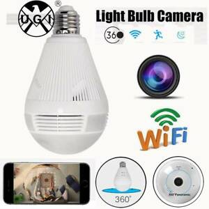 360Deg Panoramic 960P Camera Light Bulb Wifi CCTV Security Doveton Casey Area Preview