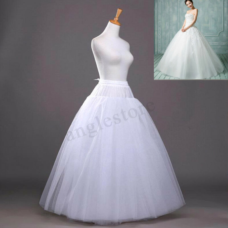 ☆8-Layers Beauty Bridal Petticoat Crinoline Long Wedding Dress Underskirt
