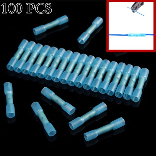 100x Blue Heat Shrink Tube connector For Electrical Terminal Wire Crimp Cable